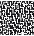 Black and white arrows background vector