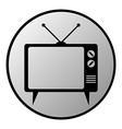 Tv button vector