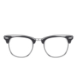 Classic sunglasses clubmaster vector