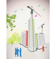 Business people high rise vector