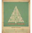 Retro christmas greeting card vector