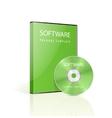 Green dvd case vector