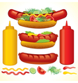 Set of fast food isolated elements vector