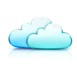 Cloud storage concept vector