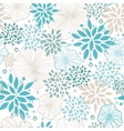 Blue and gray plants seamless pattern background vector