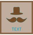Card with mustache and hat vector