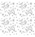 Old school tattoo background vector