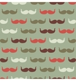 Vintage seamless pattern with mustache vector