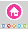 Flat game graphics icon home vector