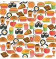 Fast food icon seamless vector