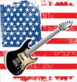 Usa guitar american vector