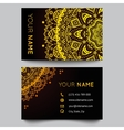 Business card template black and golden beauty vector