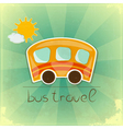 Fun bus travel card vector