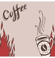 Hand drawn background with coffee mugs vector