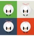 Christmas sheep icons vector