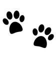Black paw print on white vector