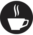 A cup of coffee icon vector