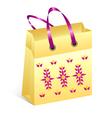 Shopping bag easter vector