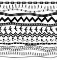 Black and white seamless pattern in ethnic style vector