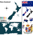 New zealand world map small vector