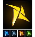 Color vibrant star emblems vector