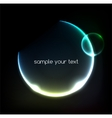 Blue light effects on round placeholder for your vector