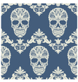 Skull swirl decorative pattern vector