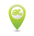 Swiming icon green map pointer vector