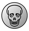 Zombie button vector