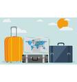 Travel background isolated on stylish background vector