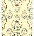Russian dolls pattern vector
