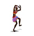 Ethnic dance african woman vector