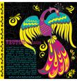 Retro grunge background with bird vector