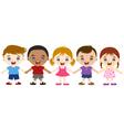 Multicultural children hand in hand vector