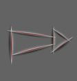 Paper cut arrow vector