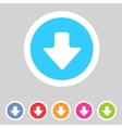 Flat game graphics icon arrow down vector