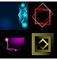 Set of beautifully glowing neon abstract vector