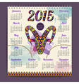 Calendar 2015 design with goat vector