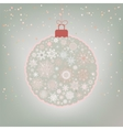 Christmas ball card vector