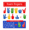 Foam finger set vector