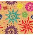 Ethnic sun pattern vector