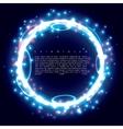 Blue ring vector