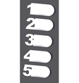 Design template numbered vector