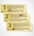 Vintage torn paper progress option labels vector