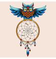 Tattoo dream owl vector