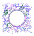 Spring background wreath with lilac purple leaves vector