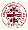 Great britain grunge ink stamp vector