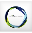 Blue ring - business abstract bubble vector