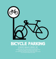 Bicycle parking sign vector