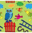 Seamless birds print vector